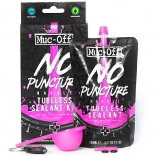 Muc-Off Polnilo No Puncture Hassle 140ml SET  z žličko+orodjem za ventil in UV svetilko